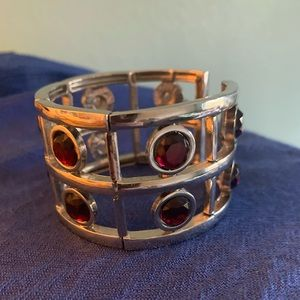 ❤️Silver and red bangle🤍